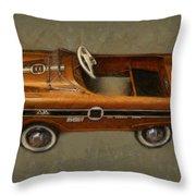 Super Sport Pedal Car Throw Pillow by Michelle Calkins