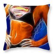 Superman 1 Fractal Throw Pillow by Gary Gingrich Galleries