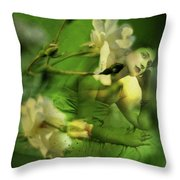 Supposition Throw Pillow by Rebecca Sherman