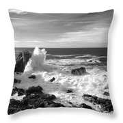 Surf At Cambria Throw Pillow by Barbara Snyder