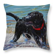 Surf Pup Throw Pillow by Molly Poole