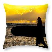 Surfer Dude Throw Pillow by Juli Scalzi