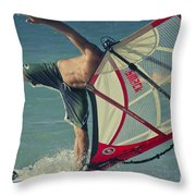 Surfing Kanaha Maui Hawaii Throw Pillow by Sharon Mau