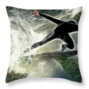 Surfing Usa Throw Pillow by Bob Christopher