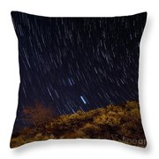 Surprise Trailhead Startrails Throw Pillow by Benjamin Reed