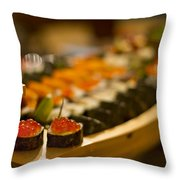 Sushi Heaven Throw Pillow by Evelina Kremsdorf