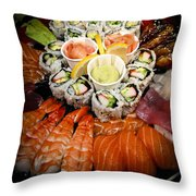 Sushi Tray Throw Pillow by Elena Elisseeva
