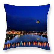 Suspension Bridge Throw Pillow by Dan Friend