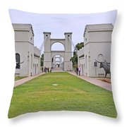 Suspension Bridge Waco Tx Throw Pillow by Christine Till