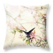 Swallowtail In Spring Throw Pillow by Stephanie Frey