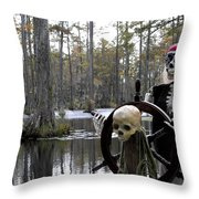 Swamp Pirate Throw Pillow by KAREN WILES
