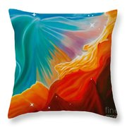 Swan Nebula Throw Pillow by Barbara McMahon