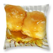 Sweet Pastry Donut Throw Pillow by Susan Leggett