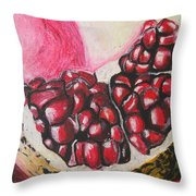 Sweet pomegranate Throw Pillow by Michael Amos