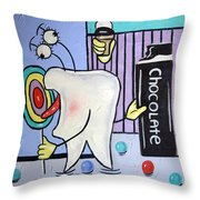 Sweet Tooth Throw Pillow by Anthony Falbo