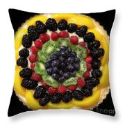 Sweet Treats - Fruit Cake - 5d20920 - Square Throw Pillow by Wingsdomain Art and Photography