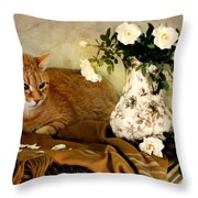 Sweetheart Roses Throw Pillow by Diana Angstadt