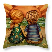 Sweethearts Throw Pillow by Karin Taylor