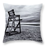 Swim At Your Own Risk Throw Pillow by Mark Miller