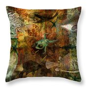 Swimming Against The Tide Throw Pillow by Sarah Vernon