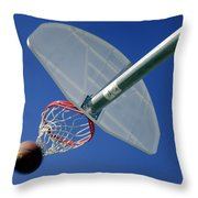 Swish  Throw Pillow by David and Carol Kelly