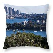 Sydney Harbour Throw Pillow by Steven Ralser
