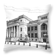 Symphony Center In Nashville Tennessee Throw Pillow by Janet King