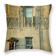 T And P Tavern Throw Pillow by Joan Carroll
