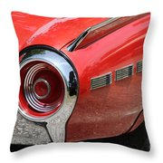 T-bird Tail Throw Pillow by Dennis Hedberg