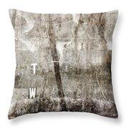 T W Throw Pillow by Carol Leigh