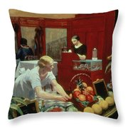 Tables For Ladies Throw Pillow by Edward Hopper