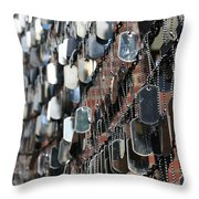 Tags Throw Pillow by DJ Florek