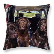Tailgaters Throw Pillow by Molly Poole