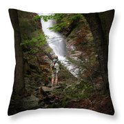Take A Hike Throw Pillow by Bill Wakeley