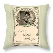 Take A Kodak With You Throw Pillow by Anne Kitzman