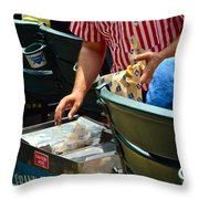 Take Me Out To The Ball Game Throw Pillow by Frozen in Time Fine Art Photography