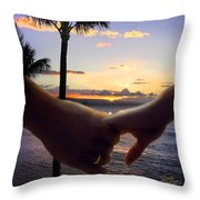 Take My Hand Throw Pillow by Doug Kreuger