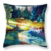 Taking A Break 2 Throw Pillow by Kathy Braud
