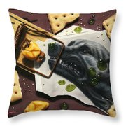 Taking the Bait Throw Pillow by James W Johnson
