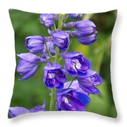 Tall Garden Beauty Throw Pillow by Eunice Miller