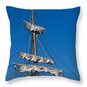 Tall Ship Rigging Throw Pillow by Art Block Collections
