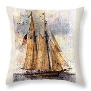 Tall Ships Art Throw Pillow by Dale Kincaid
