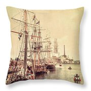 Tall Ships Throw Pillow by Joel Witmeyer