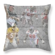 Tampa Bay Buccaneers Legends Throw Pillow by Joe Hamilton
