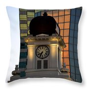 Tampa City Hall 1915 Throw Pillow by David Lee Thompson