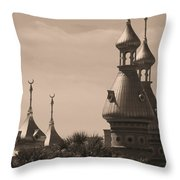 Tampa Minarets  Throw Pillow by Carol Groenen