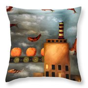 Tangerine Dream Edit 2 Throw Pillow by Leah Saulnier The Painting Maniac
