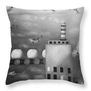 Tangerine Dream Edit 4 Throw Pillow by Leah Saulnier The Painting Maniac