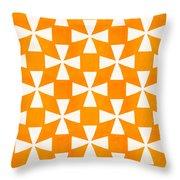 Tangerine Twirl Throw Pillow by Linda Woods