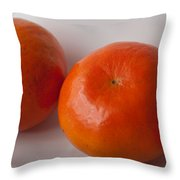 Tangerines3 Throw Pillow by Lena Wilhite
